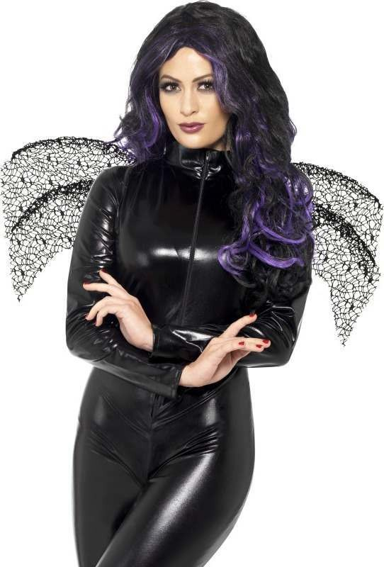 Ladies Wings Halloween - (Black)