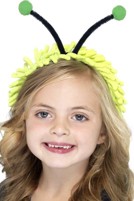 Child Unisex Ladybug Antenna On A Headband - (Green)