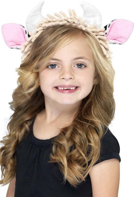 Child Unisex Cow Ears On A Headband Disguises