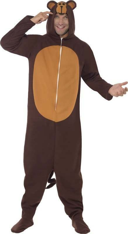Mens Monkey Costume Animal Outfit