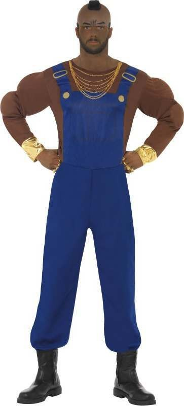 Mens Mr T Costume Tv Outfit (Blue)