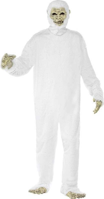 Mens Yeti Costume Halloween Outfit (White)