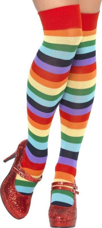 Clown Socks, Long (Clowns Fancy Dress Tights)