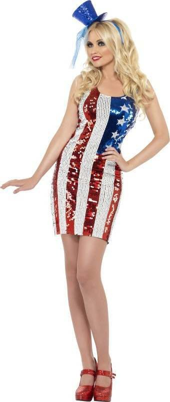 Ladies Fever All That Glitters Star Hottie Costume American Outfit