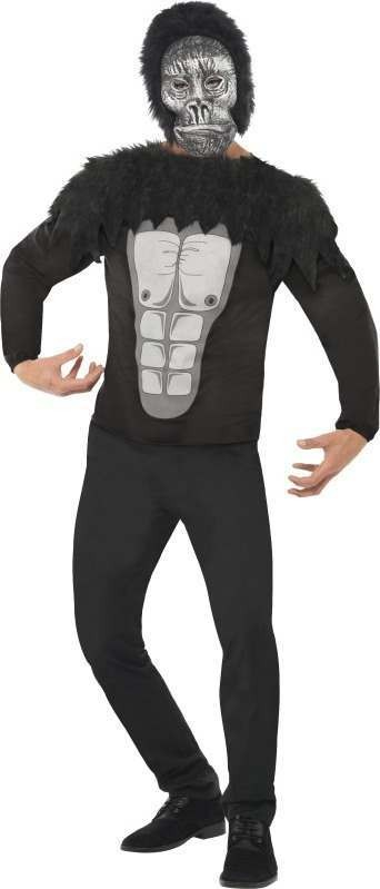 Mens Economy Gorilla Instant Kit Animal Outfit (Black)