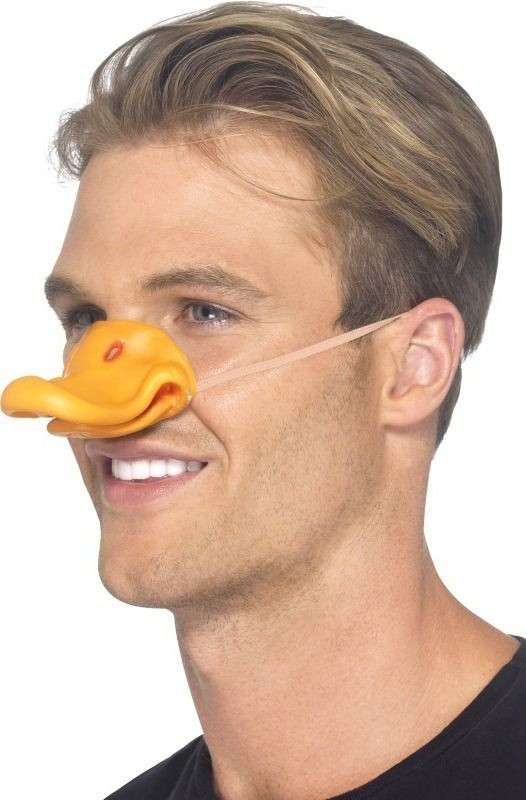 Adult Unisex Duck Beak Disguises - (Orange)