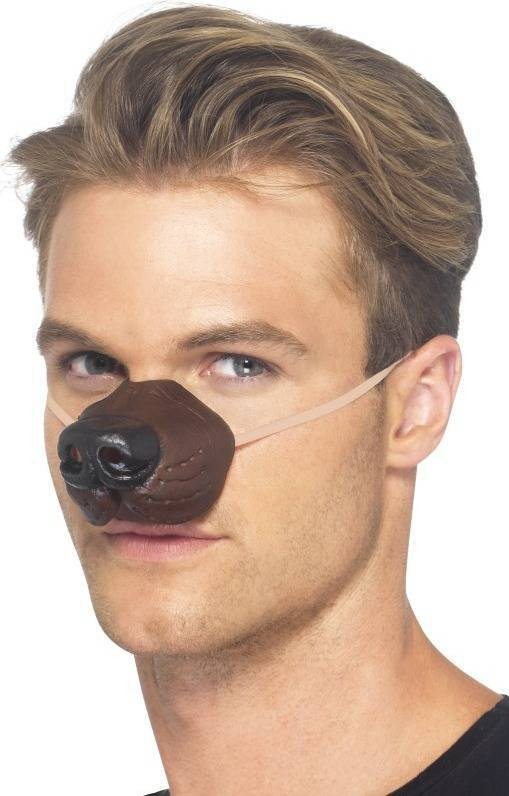 Adult Unisex Dog Nose Disguises - (Brown)