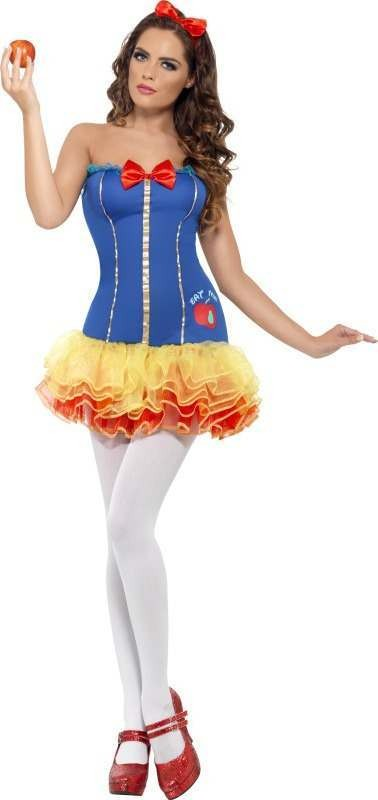 Ladies Fever Snow Princess Costume Fairy Tales Outfit
