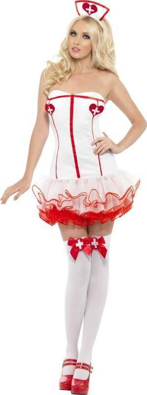 Ladies Fever Nurse Costume Doctors/Nurses Outfit