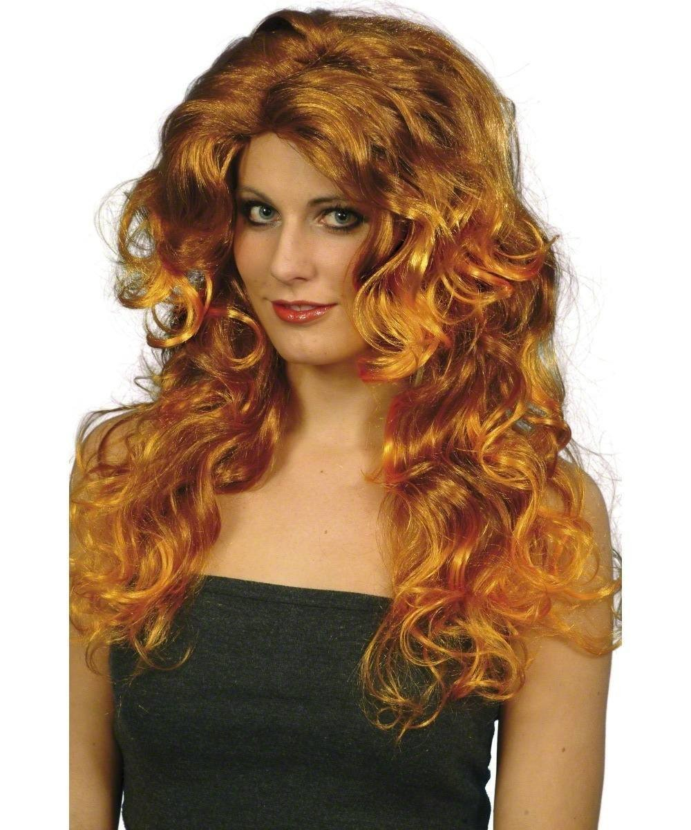 Ladies Glamour Wig Wigs - (Red)