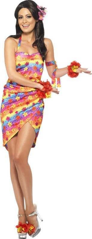 Ladies Hawaiian Party Girl Costume Hawaiian Outfit