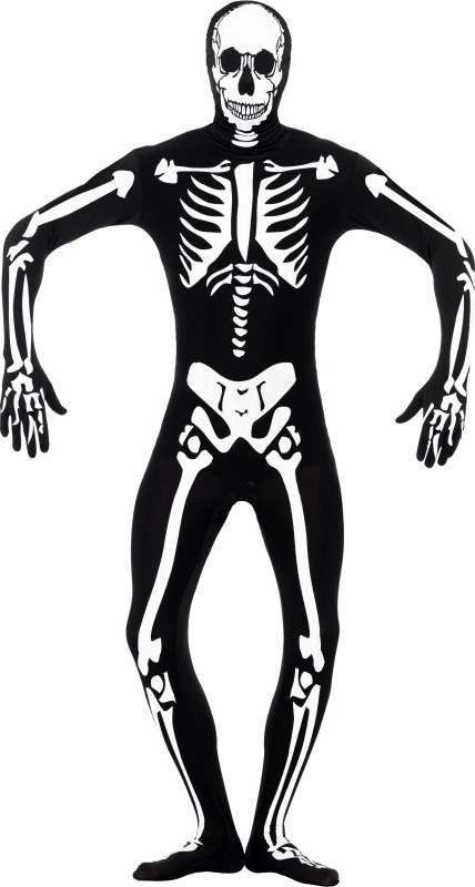 Mens Skeleton Glow In The Dark Second Skin Halloween Outfit