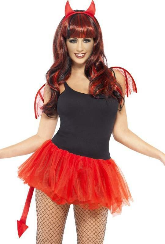 Ladies Delicious Devil Kit Halloween Disguises - (Red)