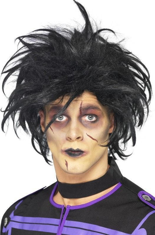 Mens Psycho Wig Halloween Wigs - (Black)