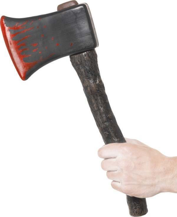 Adult Unisex Axe With Blood Splatter Halloween Swords/Knives