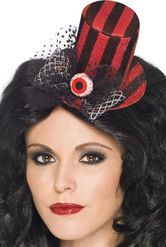 Ladies Mini Top Hat Halloween Hats - (Multicolour)