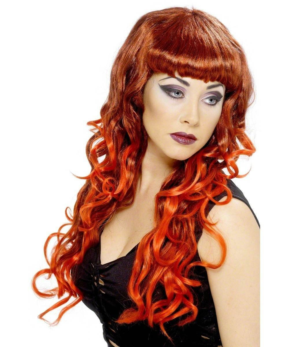 Ladies Siren Wig, Red And Black Wigs