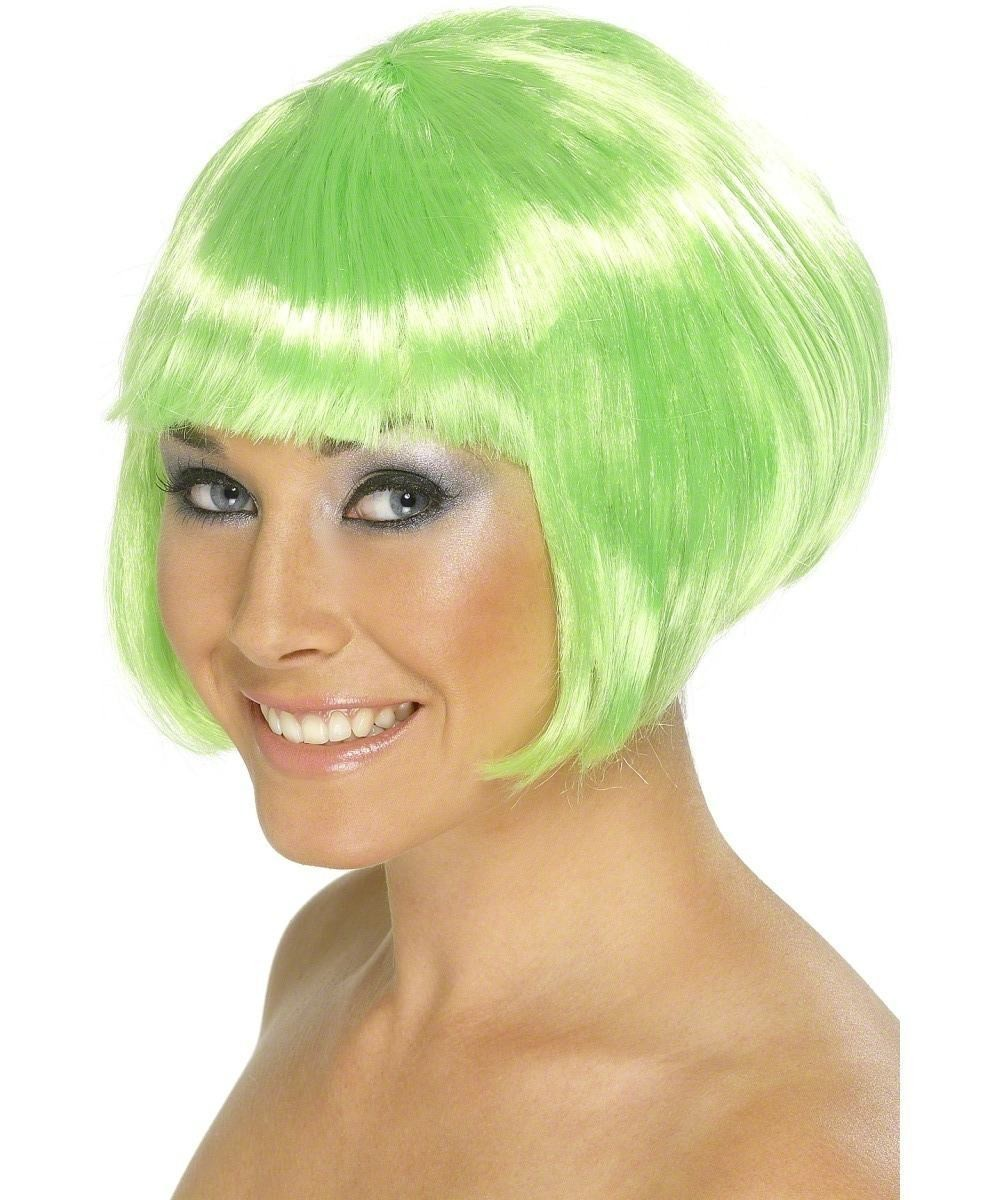 Ladies Babe Wig Wigs - (Green)