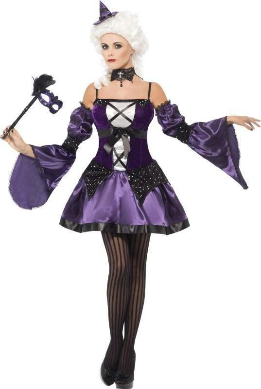 Ladies Witch Masquerade Costume Halloween Outfit
