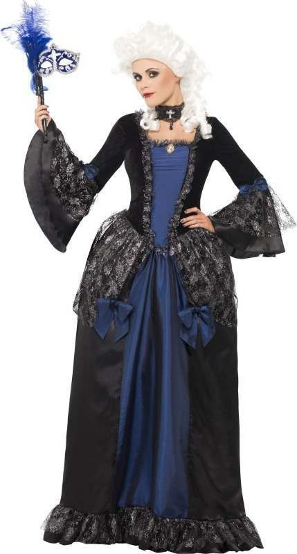 Ladies Baroque Beauty Masquerade Costume Halloween Outfit