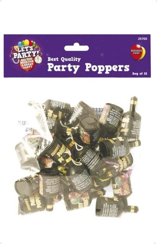 Party Poppers 25 Pieces Fancy Dress