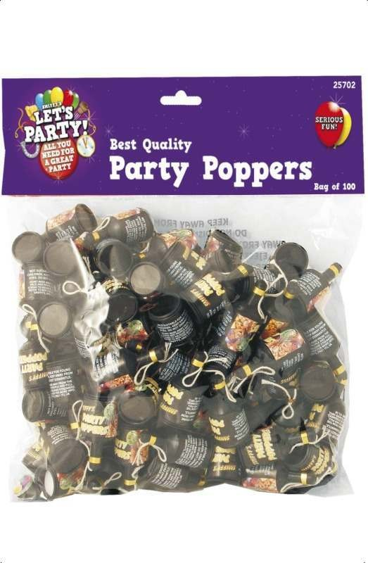 Party Poppers 100 Pieces Fancy Dress