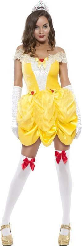 Ladies Fever Boutique Beauty Costume Boutique Outfit (Yellow)