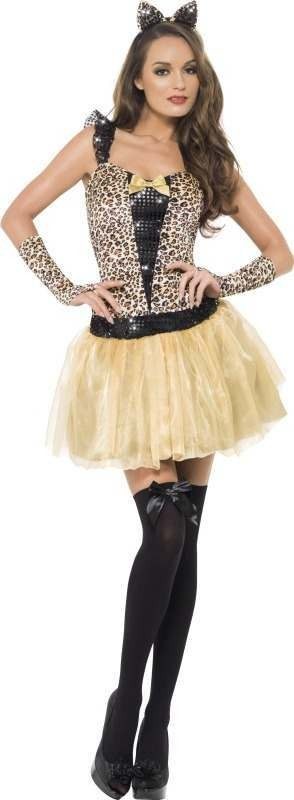 Ladies Fever Kitten Gleam Costume Animal Outfit