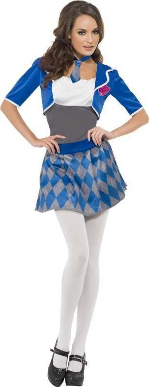 Ladies Fever Naughty Schoolgirl Costume School Outfit