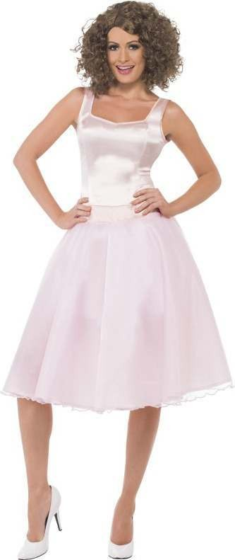 Ladies Dirty Dancing Baby Last Dance Costume Film Outfit (Pink)