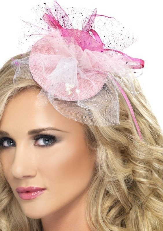 Ladies Hen Night Fascinator Hen & Stag - (Pink)
