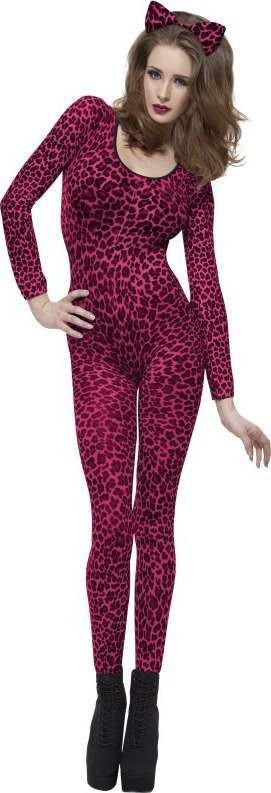 Ladies Leopard Print Pink Bodysuit Other