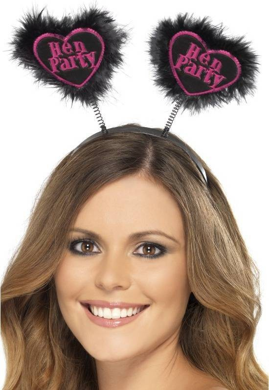Hen Party Love Heart Boppers Hen & Stag - (Black)