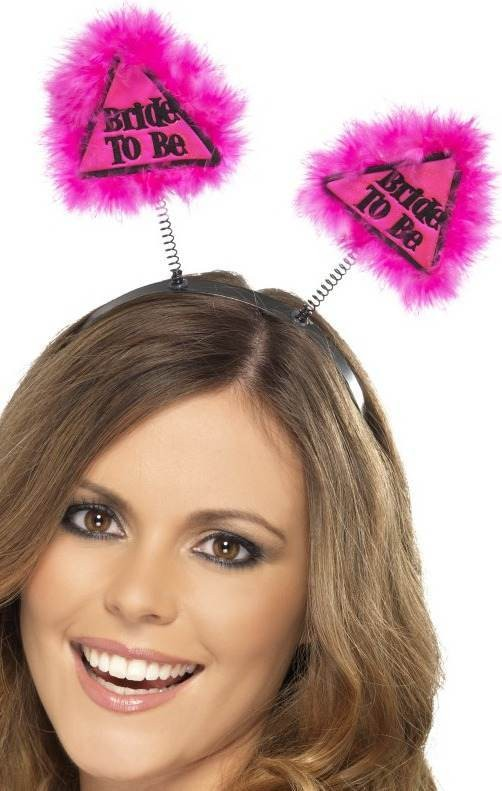 Ladies Bride To Be Warning Boppers Hen & Stag - (Pink)
