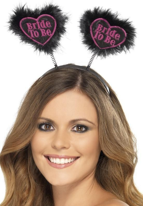 Ladies Bride To Be Love Heart Boppers Hen & Stag - (Black)