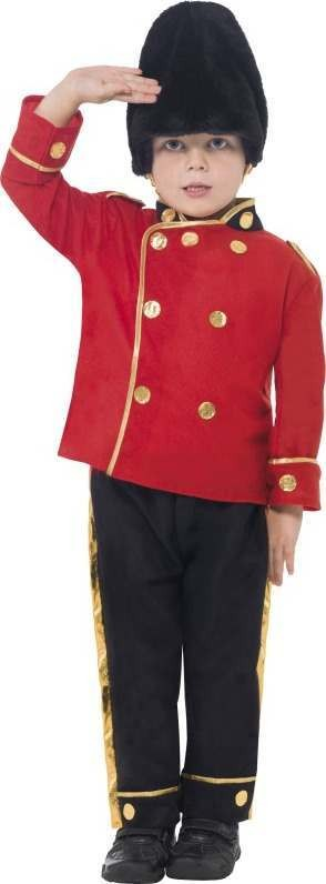 Boys Busby Guard Costume Army Outfit