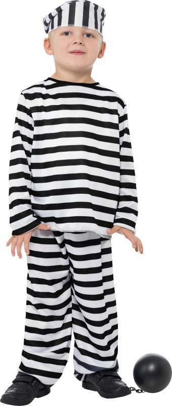 Boys Prisoner Boy Costume Cops/Robbers Outfit