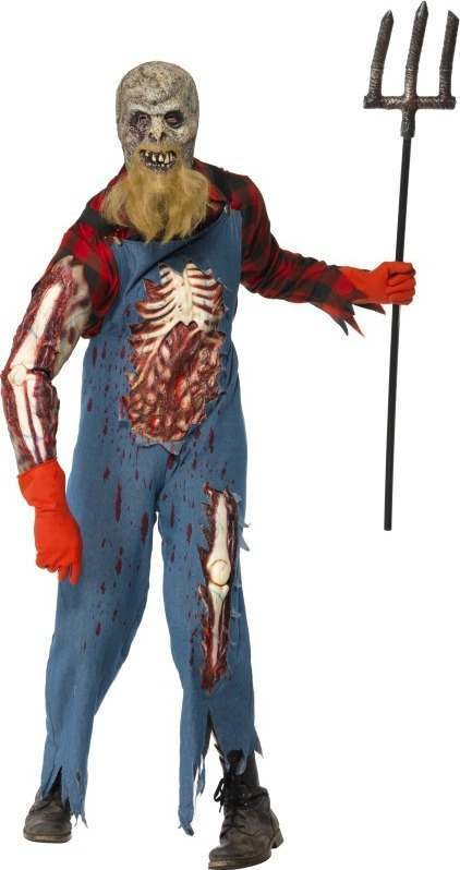 Mens Hillbilly Zombie Costume Halloween Outfit