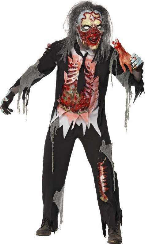 Mens Zombie Decayed Man Costume Halloween Outfit