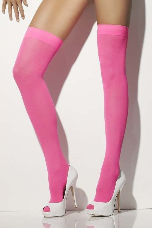 Ladies Opaque Hold-Ups Tights - (Pink)