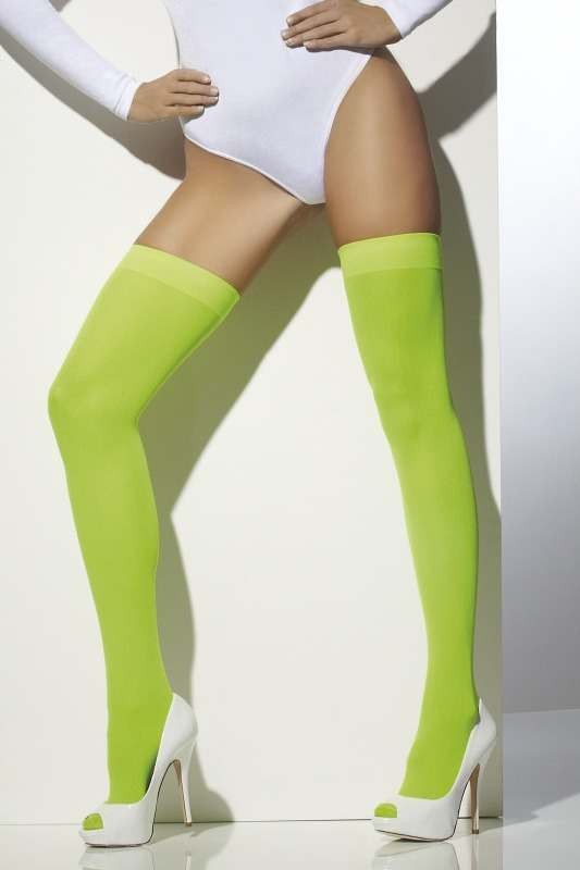 Ladies Opaque Hold-Ups Tights - (Green)