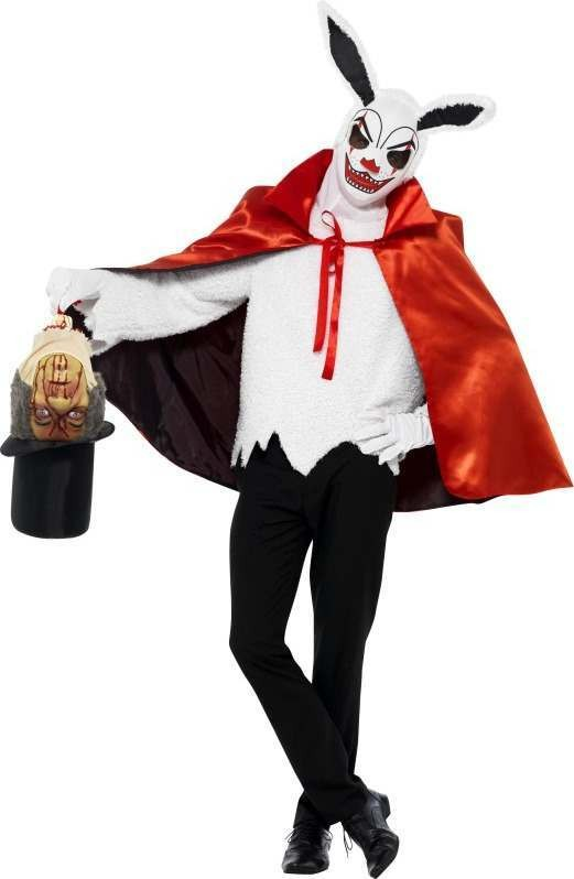 Mens Cirque Sinister Macabre Magician Costume Halloween Outfit