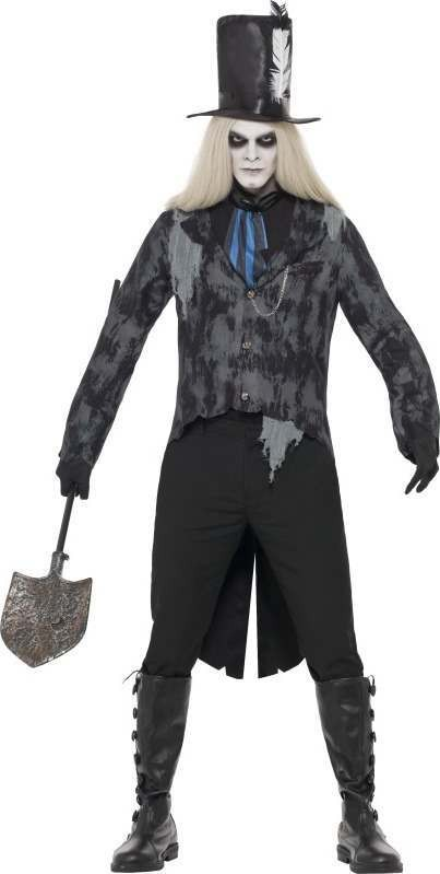 Ladies Ghost Town Undertaker Costume Halloween Outfit