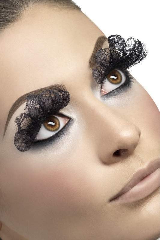Eyelashes, Large, Black Lace Eyelashes