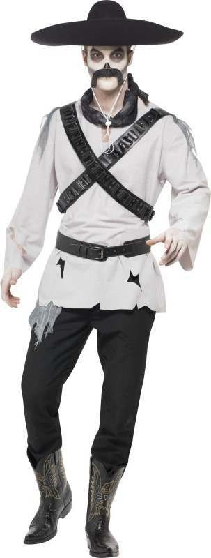 Mens Ghost Town Mexican Bandit Costume Halloween Outfit