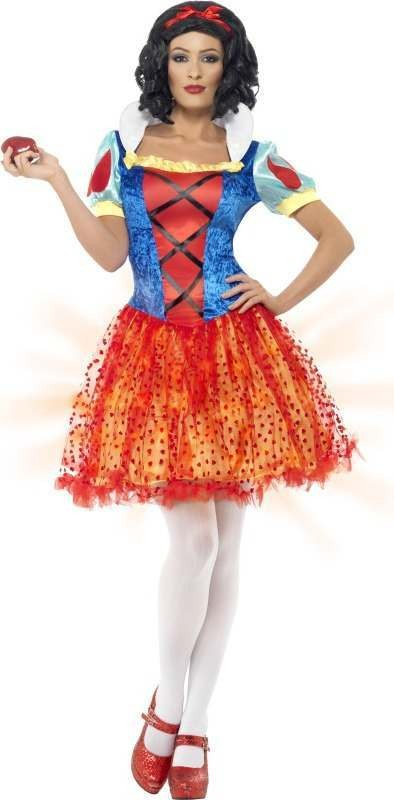Ladies Light Up Snow Beauty Costume Fairy Tales Outfit (Blue)