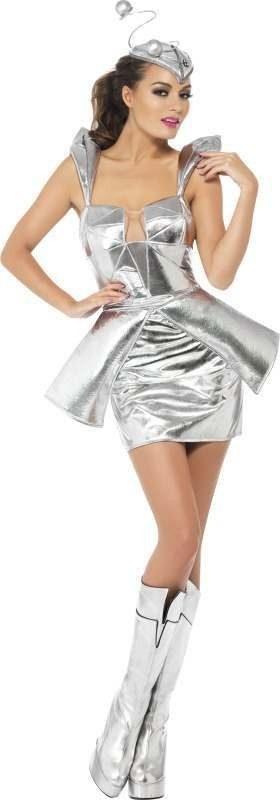 Ladies Fever Sci Fi Diva Costume, With Dress And Headband Sci-Fi