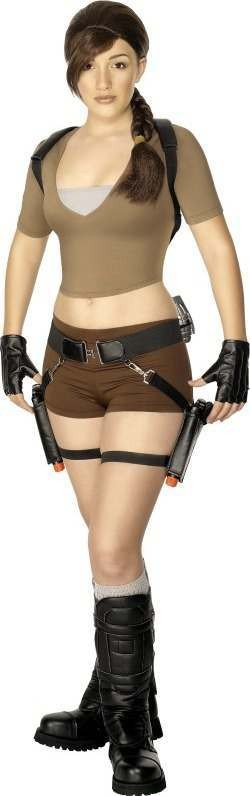 Teen Lara Croft Fancy Dress Costume Girls (Film)
