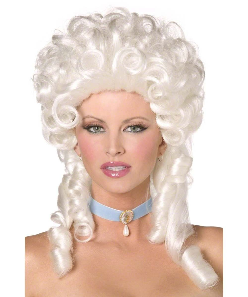 Ladies Fever Boutique Baroque Wig Wigs - (White)