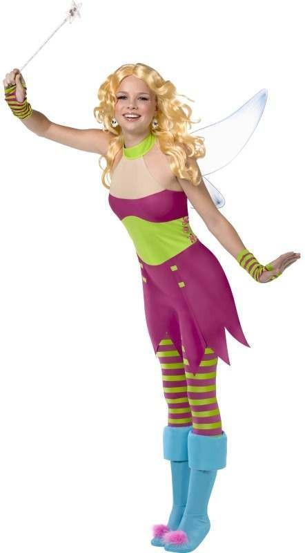 Teen Rebel Toons Tinkerbell Fancy Dress Costume Girls (Fairy Tales)